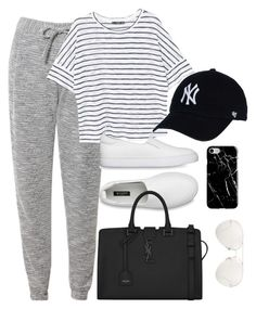 """""""Untitled #3857"""" by theaverageauburn ❤ liked on Polyvore featuring Related, MANGO, Recover, Yves Saint Laurent and Linda Farrow"""