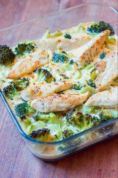 Cremet kyllinge- og broccolifad - Hjemme hos Xenia
