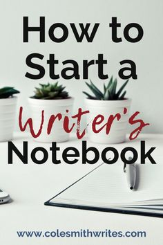 If you want to keep better track of your ideas, or get serious about regular creative brainstorming sessions, here's how to start a writer's notebook: Creative Writing Tips, Book Writing Tips, Writing Resources, Start Writing, Writing Skills, Writing Prompts, Writing Humor, Memoir Writing, Writing Lessons