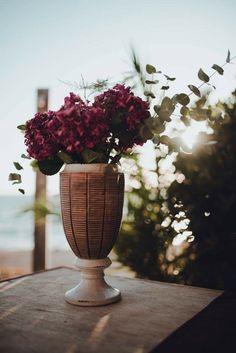 Our Love, Greece, Destination Wedding, Burgundy, Vase, Weddings, Plants, Home Decor, Greece Country