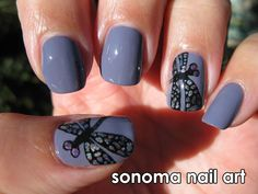 Gorgeous Dragonfly Mani! in different color would be awesome