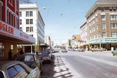 35mm Slide Cheyenne Wyoming Street Scene Paramount Movie Theater Cars 1971