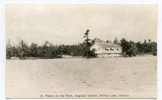 STONEY LAKE ONTARIO St Peter's on the Rock Anglican Church RPPC AZO postcard Anglican Church, Peterborough, Places Of Interest, The Rock, Ontario, Wedding Stuff, Rocks, Canada, Memories