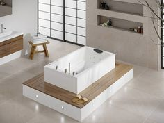 Yasahiro Deep Soaking Tub ('laid back' style)