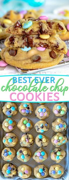 Truly the BEST Bakery Style Chocolate Chip Cookies EVER! Soft and chewy, extra t… Truly the BEST Bakery Style Chocolate Chip Cookies EVER! Soft and chewy, extra thick and just loaded with sweet chocolate! // Mom On Timeout Mini Desserts, Pudding Desserts, Holiday Desserts, Holiday Baking, Just Desserts, Delicious Desserts, Dessert Recipes, Desserts Keto, Baking Desserts