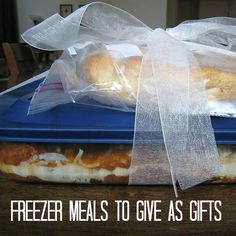 Believe it or not, a freezer meal can make a great gift! Anyone (not just new parents and the bereaved) will enjoy a homemade meal prepared with love.