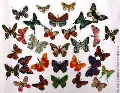 Броши ручной работы. Бисерные бабочки. Екатерина Костинская.