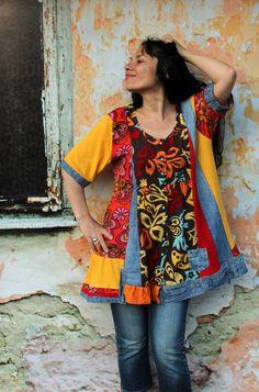 Reserved for Barbara Buchman denim recycled dress by jamfashion