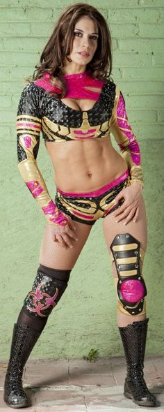Former luchadora now WWE trainer Sarah Stock (aka Dark Angel) http://hubpages.com/sports/the-women-of-lucha-libre-mexicana