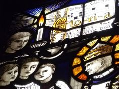 Stained glass music Medieval Middle Ages window