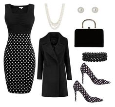 Polka dots by romar66 on Polyvore featuring polyvore, fashion, style, BCBGeneration, Boohoo, Anne Klein, Bling Jewelry, Givenchy and clothing