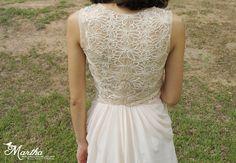 Elegant Vintage Flower Lace wedding dress lace by Jammyfingers, $268.00