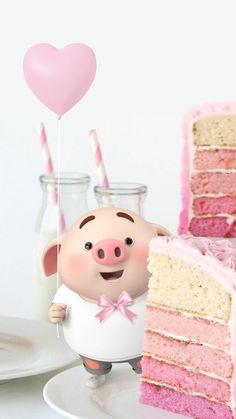 Happy Birthday Wallpaper, Happy Birthday Images, Happy Pig, Happy B Day, This Little Piggy, Little Pigs, Pig Wallpaper, Cute Piglets, Pig Illustration