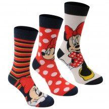 Disney - 3 Pack Crew Socks Ladies