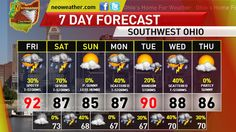http://neoweather.com/Textforecast/2013/07/18/7192013-last-day-of-heat-random-storms-possible-cincinnati/ Text Forecast From Neoweather Cincinnati for Southwest Ohio.  Find out just how much longer we will be tolerating the heat, when the relief is coming, and finally, the latest on the severe weather threat for Cincinnati-Dayton.