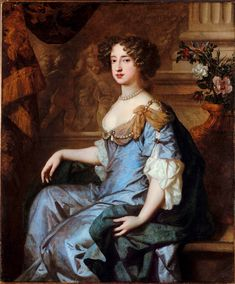 Mary II (1662-1694), Queen of England, Scotland, and Ireland (1689-1694) in her own right. She was the daughter of King James II & VII of England, Scots, and Ireland and his 1st wife, Anne Hyde. She was Sovereign Princess of Orange (1677-1694) as the wife of Willem III, Sovereign Prince of Orange. Her husband became her co-monarch as King William III & II. She had no children.