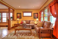 top molding, California Craftsman Livingroom, dan_achatz, via Flickr