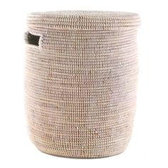 """for master bath: Option 1 Woven Storage Laundry Basket - Flat Lid size: aprox 14"""" d x 19"""" t"""