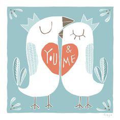 You and Me - Fine Art Print (Large). $75.00, via Etsy.