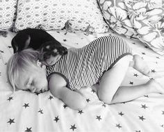 Let the record show, this is the most adorable way to nap. | This Puppy And Baby Are The Most Adorable Nap Time Pals