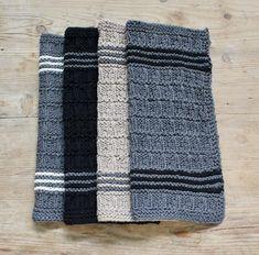 Nye karklude i bambusmiks - susanne-gustafsson.dk Cross Stitch Pattern Maker, Cross Stitch Patterns, Craft Patterns, Knit Patterns, Dishcloth Knitting Patterns, Crochet Home Decor, Diy Cleaning Products, Textiles, Knitted Blankets