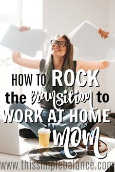 Just when you feel like you mastered being a stay at home mom, now you need to figure out how to be a work at home mom. At first you might feel like you're drowning - how are you going to juggle everything? That's why you need these work at home mom tips from a mom just a year in (when it's still fresh) that will help you make the leap with confidence. You don't want to miss these! You CAN rock the transition to work at home mom. #workathomemom