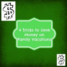 4 tricks to save money on your family vacation this summer. Easy things that add up! #budget #travel #kids