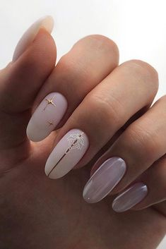 The Best Wedding Nails 2020 Trends ★ wedding nails 2019 white milk nails with stripes and stars eva. Wedding Nail Polish, Wedding Nails Design, White Nail Designs, Nail Art Designs, Cute Nails, Pretty Nails, Natural Looking Nails, Nagel Blog, Nails Design With Rhinestones
