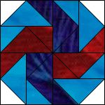 May 2010 Block of the Month -- Dutchman's Puzzle (Block 10 of 12)