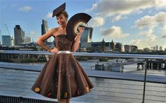 A Dress Made Entirely Out Of Chocolate