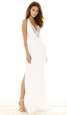 Gemeli Power Dupeyroux Jersey Gown in White | REVOLVE
