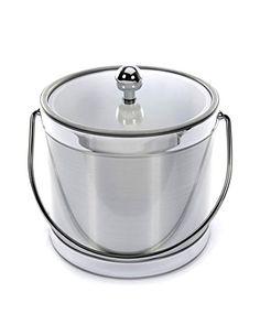 Brushed Silver 3 Quart Ice Bucket -- For more information, visit image link.