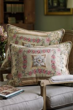 Mas La Barque Tapestry Pillow Sham - Inspired by the rustic elegance of Marie Antoinette's Petit Trianon | Soft Surroundings