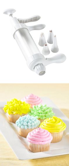 Cupcake frosting decorating pen helps you decorate desserts like a pro #product_design