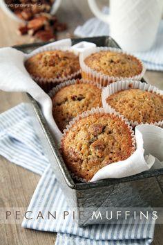 These Pecan Pie Muffins taste just like the classic pie only BETTER! @Love Grows Wild - Liz Fourez #breakfast