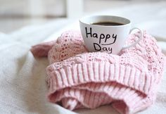 happy day with coffee