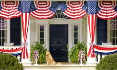 Red White and Blue: patriotic decor and entertaining