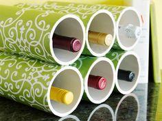 Genius Idea: Pvc Pipe Wine Rack Craft