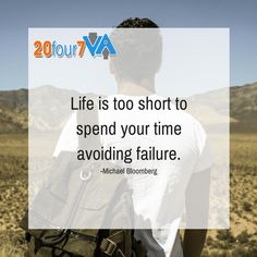 Take risks and don't be afraid to fail. Learn from your failures and try again! #20Four7VA #motivationmoment