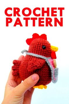 Meet Mevlinn Gusick, the crochet pattern designer of MevvSan! Crochet Birds, Easter Crochet, Crochet Motif, Crochet Baby, Free Crochet, Knit Crochet, Chicken Toys, Chicken Crafts, Crochet Patterns Amigurumi