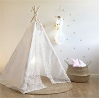 Lace Teepee Tent Teepee Tent, Toddler Bed, House Design, Wedding Dresses, Lace, Furniture, Home Decor, Child Bed, Bride Dresses