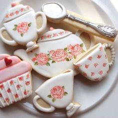 Tea Cookies for your tea party. #cooltea #cookies