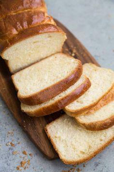 Brioche Loaf Bread- The Little Epicurean - Bread Recipes Loaf Bread Recipe, Loaf Recipes, Bread Machine Recipes, Easy Bread Recipes, Keto Bread, Bread Baking, Healthy Recipes, Bread Food, Baking Recipes