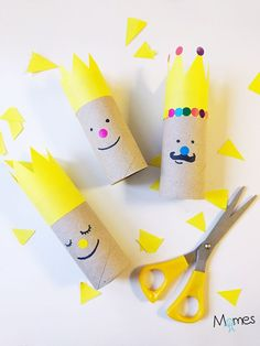 Imaginative Halloween Costumes - The Best Way To Be Artistic With A Budget Les Rois De L'piphanie - Apprendre Utiliser Les Ciseaux En Maternelle Kids Crafts, Arts And Crafts, Cardboard Toys, Toilet Paper Roll Crafts, Lessons For Kids, Epiphany, Christmas Art, Diy For Kids, Activities For Kids