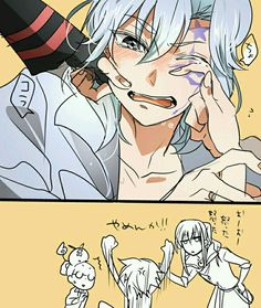 Allen and Kanda ~ lol i have no idea what's going on but it's still cute!
