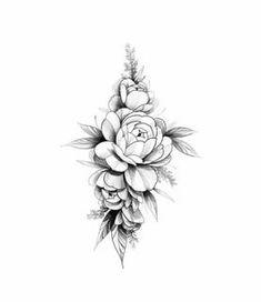 Family Tattoo Designs, Small Tattoo Designs, Flower Tattoo Designs, Small Tattoos, Rose Drawing Tattoo, Flower Tattoo Drawings, Flower Tattoos, Tatoo Floral, Floral Tattoo Design