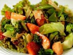 Salad Greens with Strawberry Vinaigrette