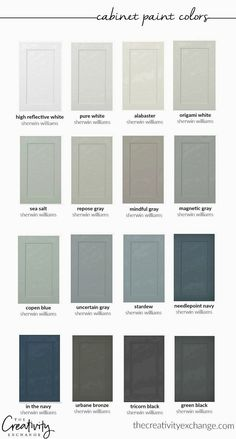Home Remodel Floors 30 beautiful cabinet paint colors for kitchens and baths. Remodel Floors 30 beautiful cabinet paint colors for kitchens and baths. Cabinet Paint Colors, Kitchen Paint Colors, Bedroom Paint Colors, Paint Colours, Diy Kitchen Cabinets, Built In Cabinets, Kitchen Decor, Kitchen Ideas, Kitchen Designs