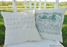 How To Easily Create Antique Graphic Pillows ! (Easy Step By Step Tutorial)