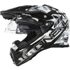 2016 ONeal Sierra Adventure Helmet - Sniper Black White